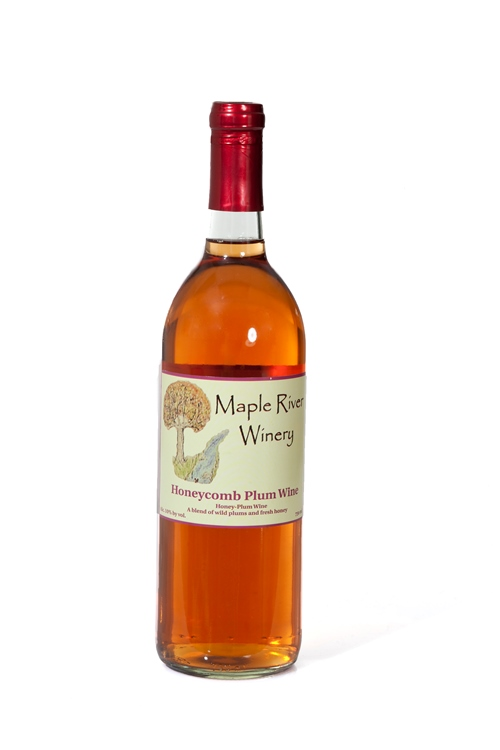 honey comb plum wine bottle 2