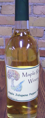 apple jalapeno pepper wine bottle 2
