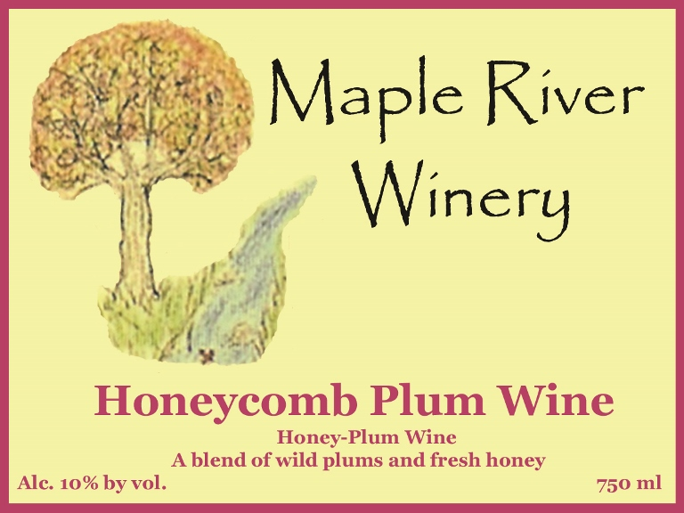 honeycomb plum wine label