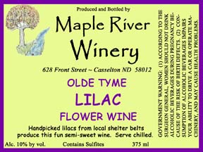lilac wine label