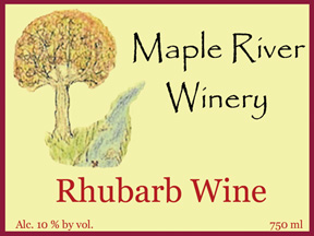 rhubarb wine label